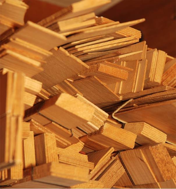 Abgelagertes Holz für den Geigenbau
